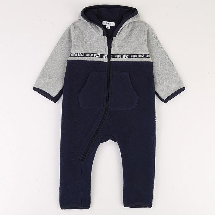 Combinaison à capuchon en molleton pour bébés garçons [3-18M]
