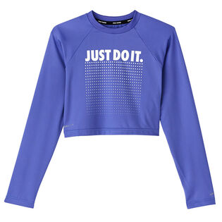 Junior Girls' [7-16] JDI Long Sleeve Crop Hydroguard Rashguard