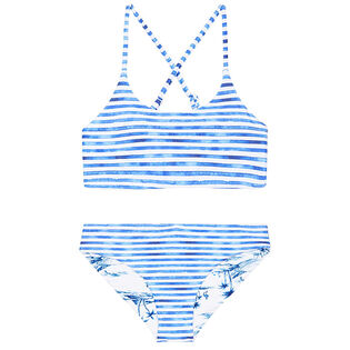 Junior Girls' [6-14] Tropical Vibes Reversible Two-Piece Bikini