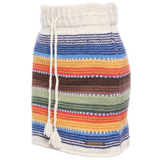 Women's Wool Stripe Skirt