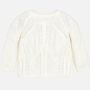 Chandail en tricot câblé pour filles[3-6]