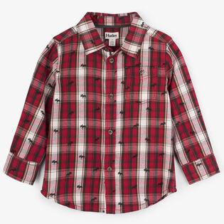 Boys' [2-6] Moose Plaid Shirt