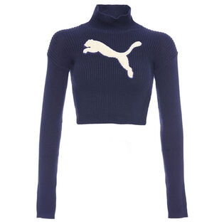 Women's Crop Turtleneck Sweater