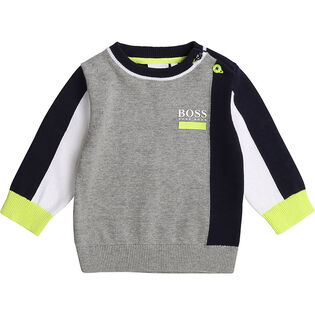 Boys' [3M-3Y] Colourblock Pullover Sweater