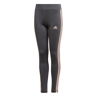 Junior Girls' [8-16] Training Equipment 3-Stripes Tight