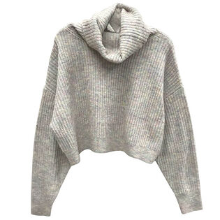 Women's Cowl Cropped Sweater
