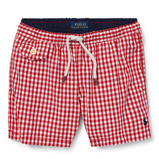 05749b3ff Boys   5-7  Traveler Gingham Swim Trunk ...