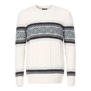 Men's Alpaca Jacquard Sweater