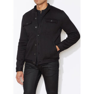 Men's Sherpa-Lined Knit Jacket