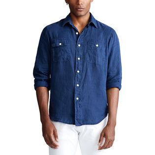 Men's Classic Fit Linen Workshirt