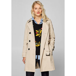 Women's Belted Cotton Trench Coat