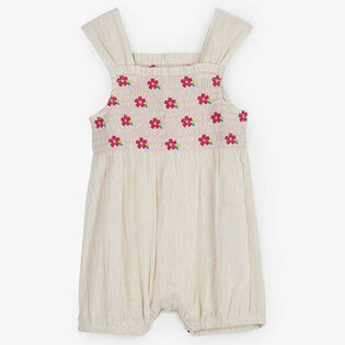 Baby Girls' [3-24M] Tropical Flowers Bubble Romper
