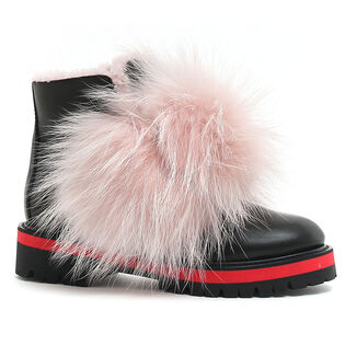 Women's Fur Biker Boot