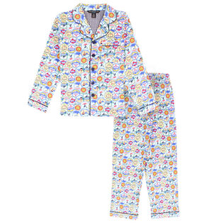 Junior Boys' Ski Holiday Two-Piece Pajama Set