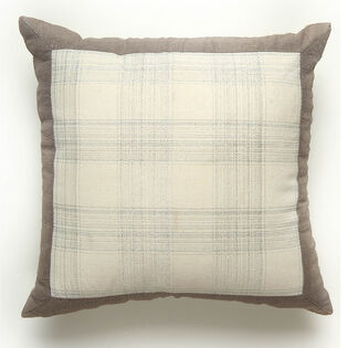 Metallic Plaid Pillow