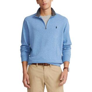 Men's Luxury Jersey Quarter-Zip Pullover Top