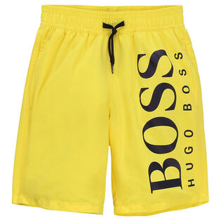 Junior Boys' [4-16] Logo Swim Trunk