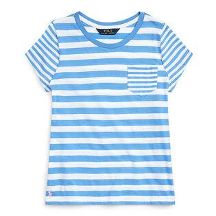 Junior Girls' [7-16] Striped Cotton Jersey T-Shirt