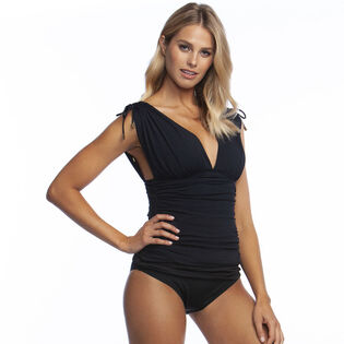 Women's Island Goddess Adjustable Arm Coverage OTS Tankini Top