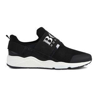 Juniors' [4-7] Mesh Logo Sneaker