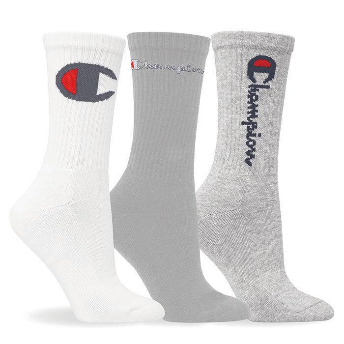 Chaussettes mi-mollet unisexe avec logo multiples (3 paires)