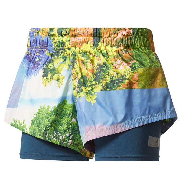 Women's Run Two-In-One Nature Print Short