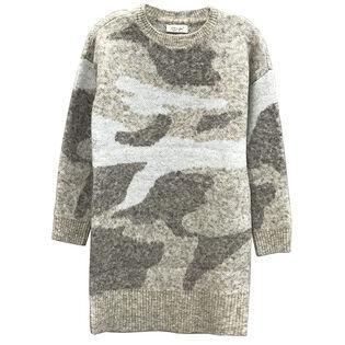 Women's Long Knit Camo Sweater