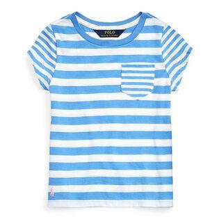 Girls' [5-6X] Striped Cotton Jersey T-Shirt