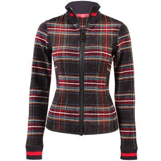 Women's Plaid Full-Zip Sweater