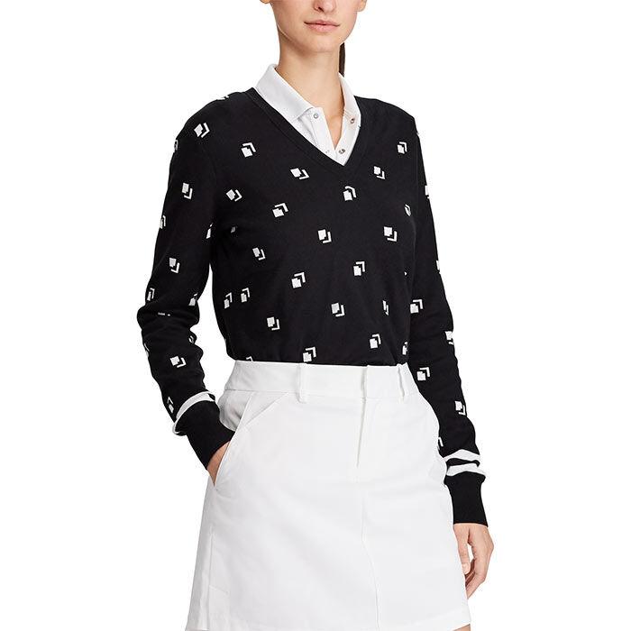 Women's UV Print Golf V-Neck Sweater