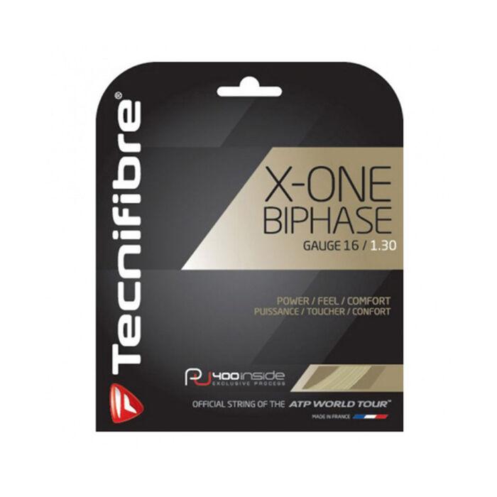 Cordage de raquette de tennis X-One Biphase à jauge de 1,6
