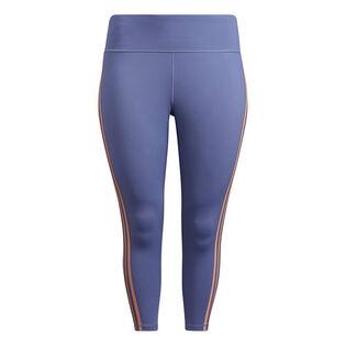 Women's Believe This 3-Stripes 7/8 Tight (Plus Size)