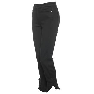 Women's Black Shadow Hoxton Straight Ankle Jean