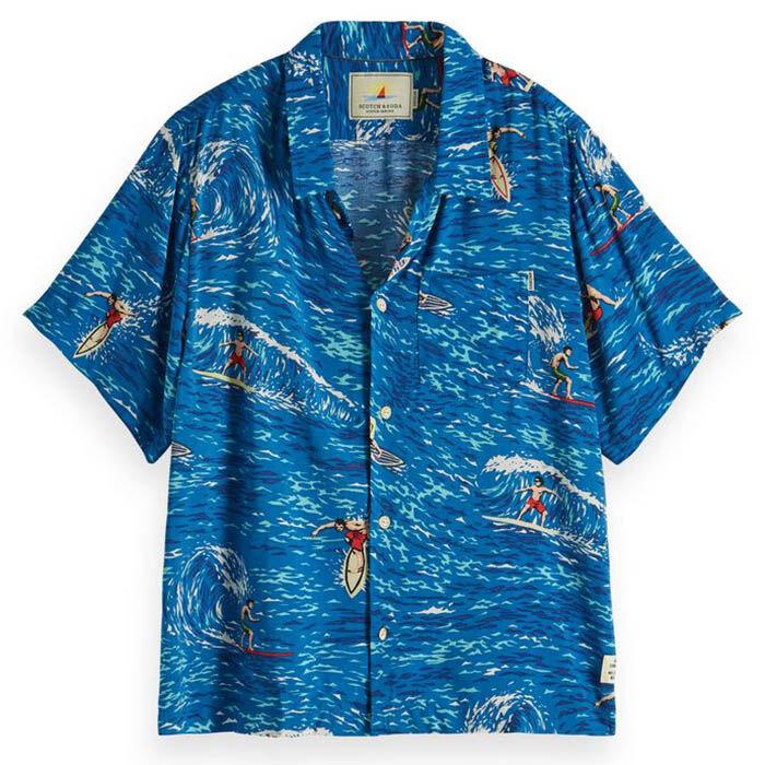 Junior Boys' [8-16] Surf Print Hawaii Shirt