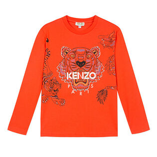 Junior Boys' [8-14] Multi-Tiger Long Sleeve T-Shirt