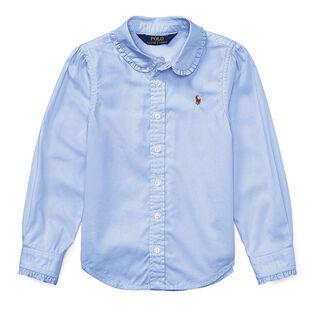 Chemise oxford froissée en coton pour filles [2-4]