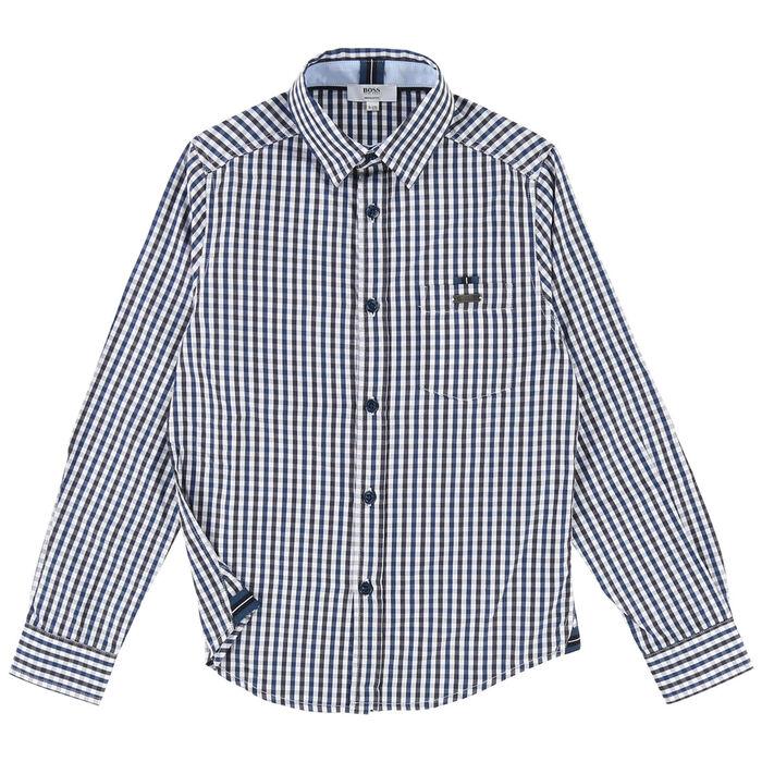 Chemise à guingan pour garçons juniors [4-16]