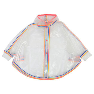 Girls' [4-6] Glittery Cape Raincoat
