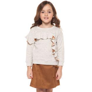 Junior Girls' [7-14] Ruffle Trim Sweatshirt