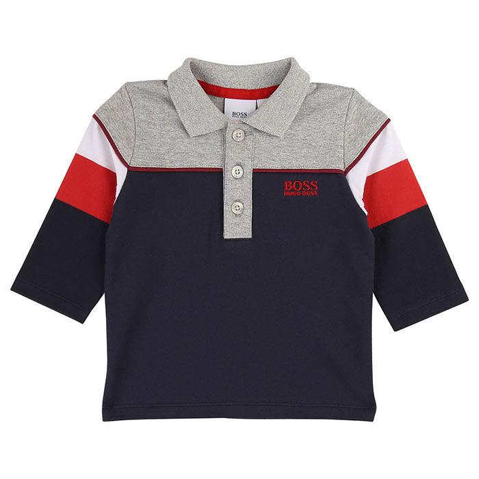 Boys' [6M-3Y] Colourbocked Polo