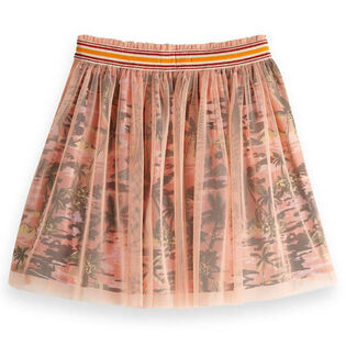 Junior Girls' [8-16] Printed Tulle Skirt