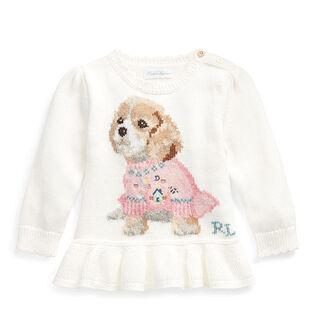 Baby Girls' [6-24M] Dog Peplum Sweater