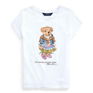 Junior Girls' [7-16] Madras Bear Cotton Jersey T-Shirt