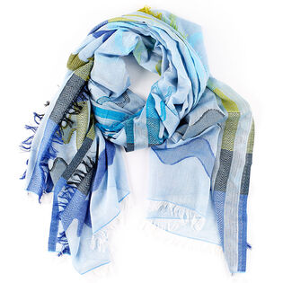 Women's Zig Zag Stripe Oblong Scarf