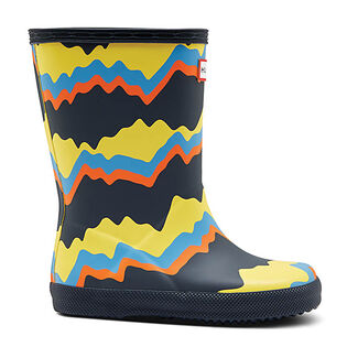 Kids' [10-2] Original First Storm Stripe Rain Boot