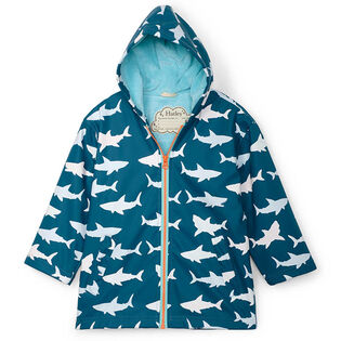 Boys' [2-8] Sharks Colour Changing Splash Jacket