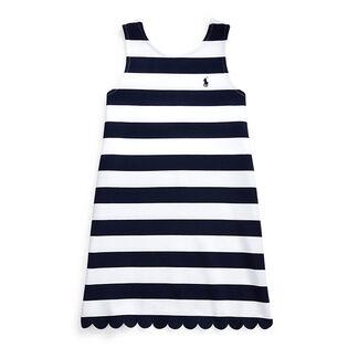 Robe à rayures en tissu ponté pour filles juniors [7-16]