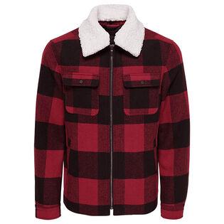 Men's Short Checked Jacket