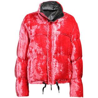 Women's Reversible Velvet Puffer Jacket