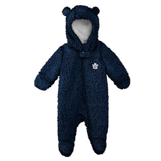 Babies' [6-9M] Toronto Maple Leafs Teddy Fleece Coverall